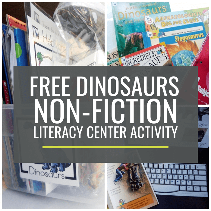 Dinosaurs Non-fiction Literacy Center Activity