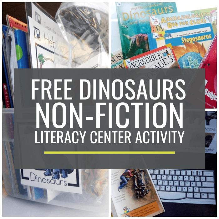 Dinosaurs Non-fiction Literacy Center Activity