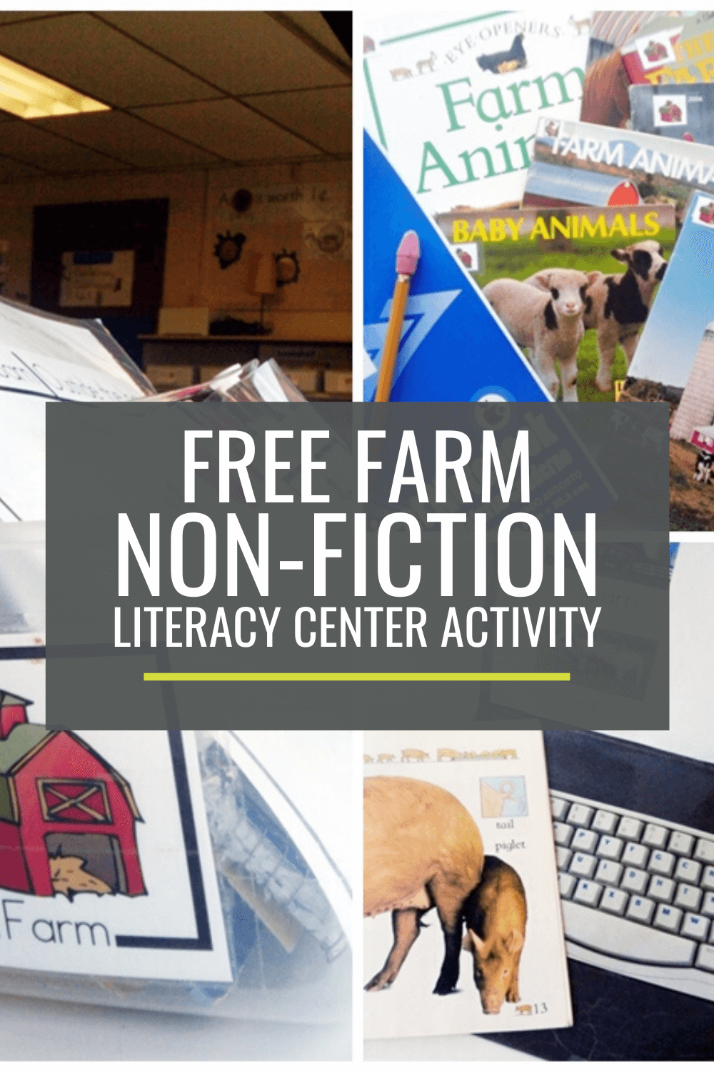 Farm Non-fiction Literacy Center Activity Set