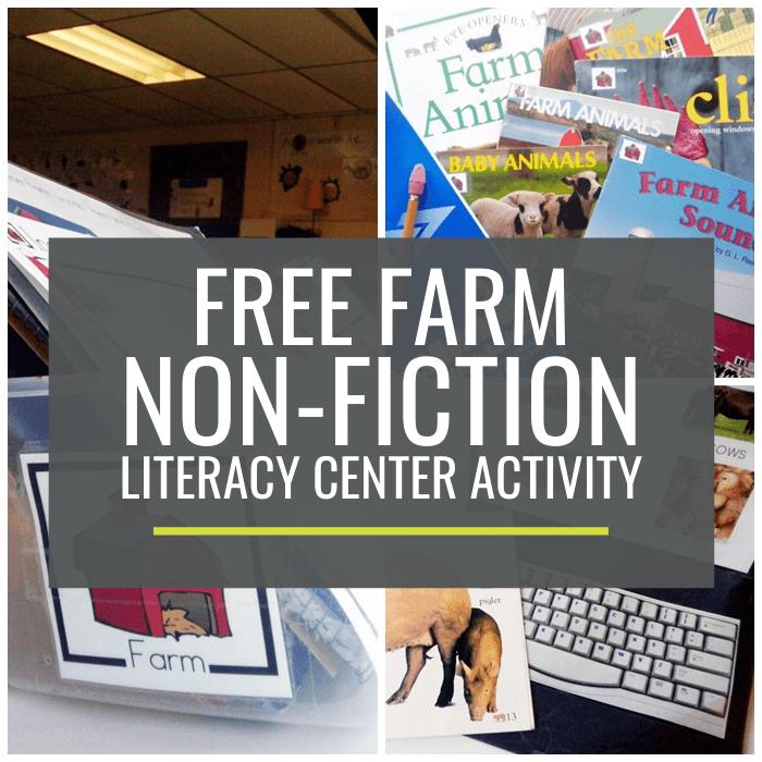 Farm Non-fiction Literacy Center Activity
