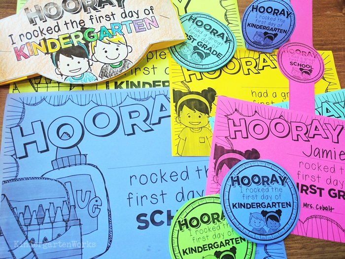 First day of school printable bracelets for free