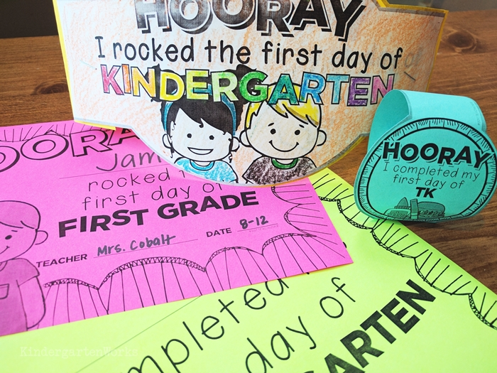 Printable First day of school certificates for free