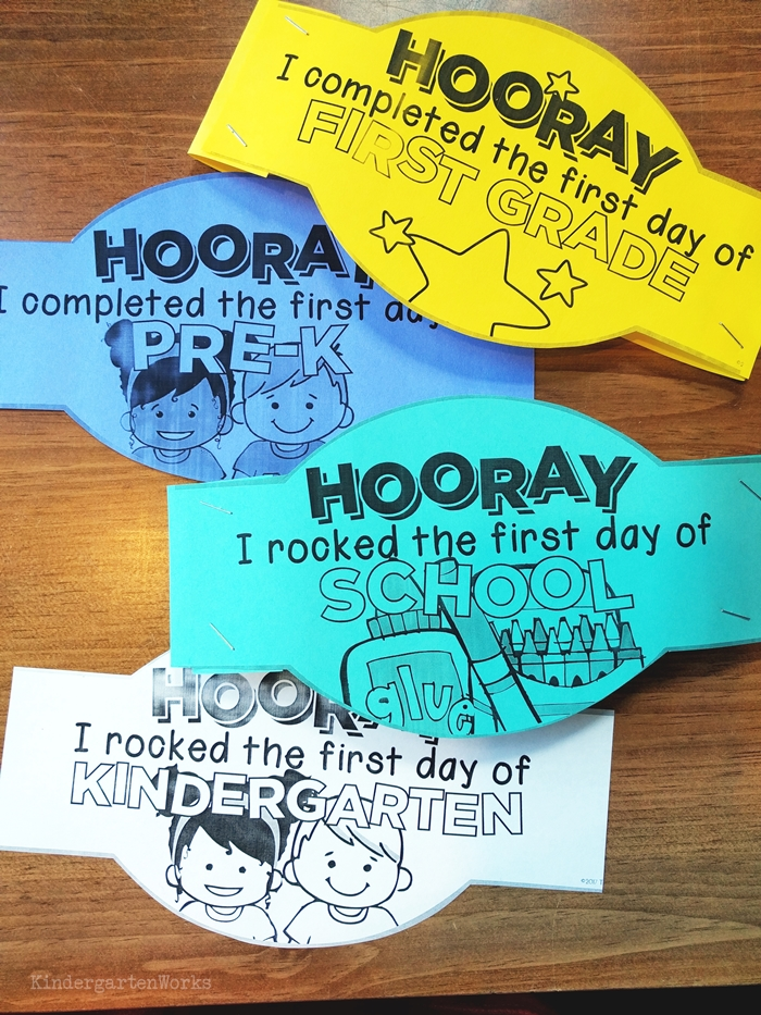 First day of school printable headbands crowns for free