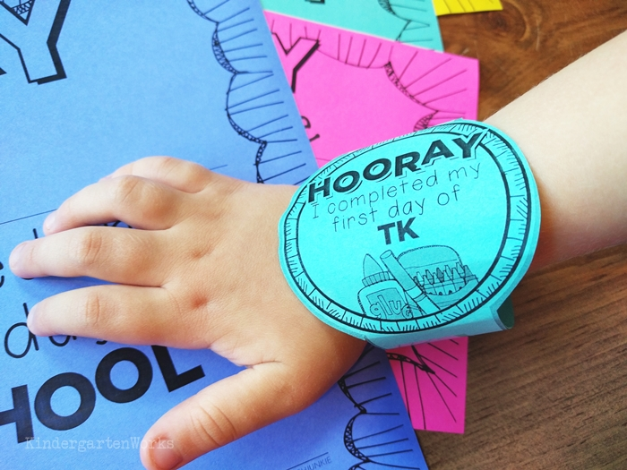 Free first day of school printable bracelets