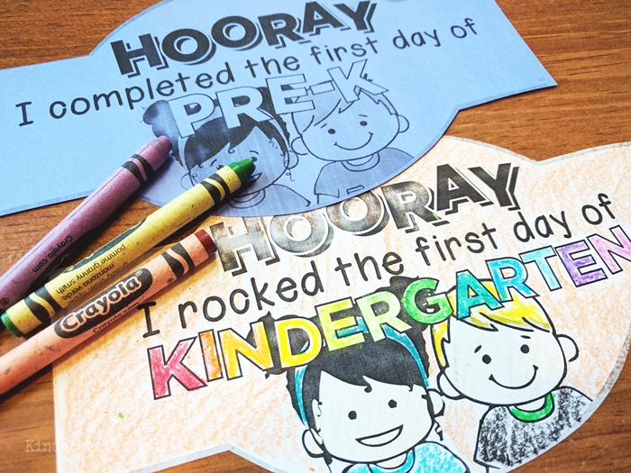 Free first day of school headbands crowns for kindergarten