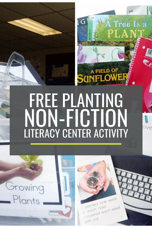 Growing Plants Non-fiction Literacy Center Activity Set