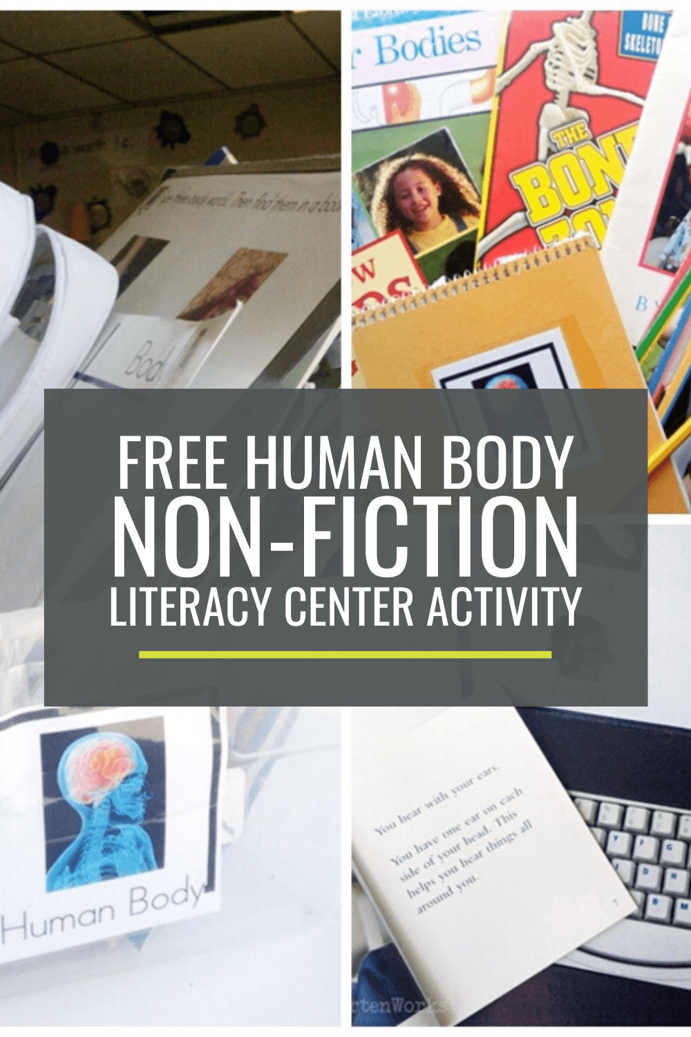 Human Body Non-fiction Literacy Center Activity Set