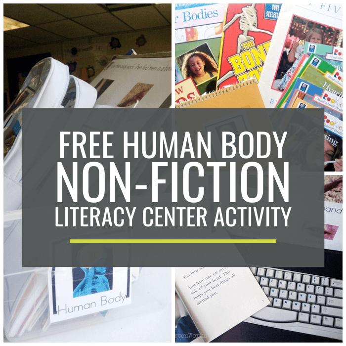 Human Body Non-fiction Literacy Center Activity