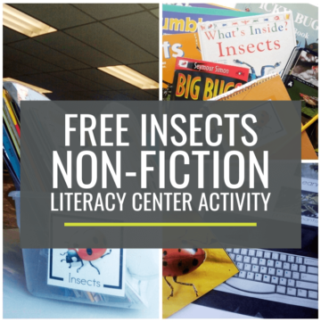 Insects Non-fiction Literacy Center Activity