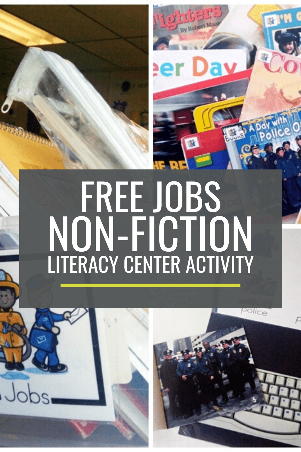 Jobs Non-fiction Literacy Center Activity Set