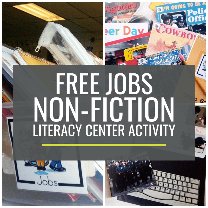 Jobs and Occupations Non-fiction Literacy Center Activity