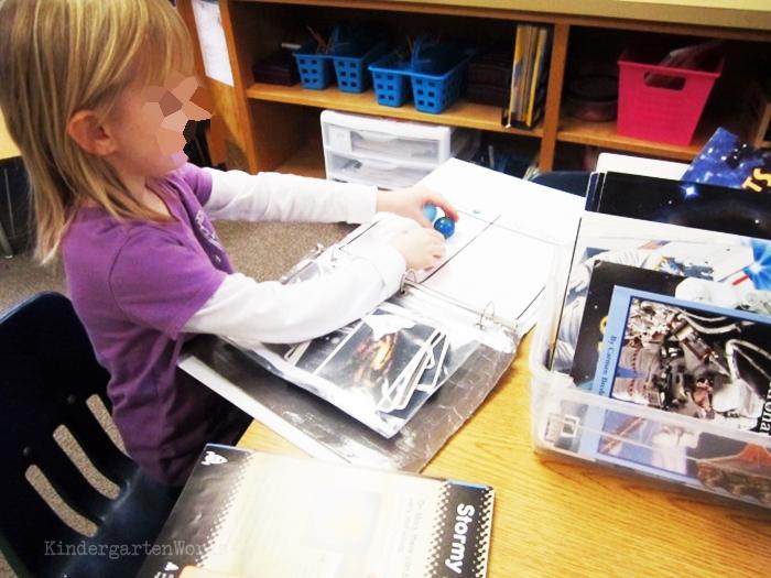 Kindergarten Non Fiction Literacy Center Activity outer space