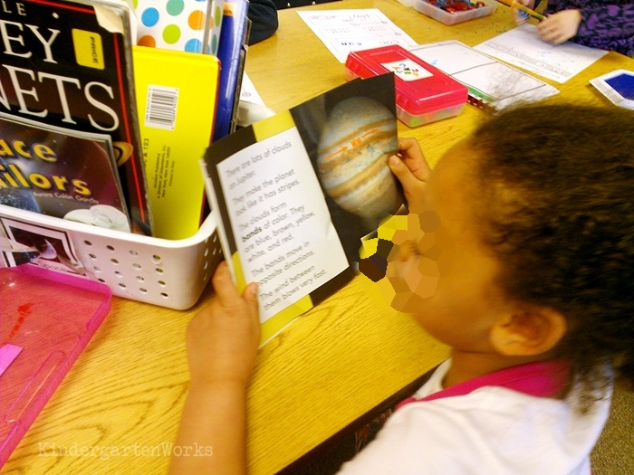 Easy Non-Fiction Literacy Center for Kindergarten - reading content motivates young readers