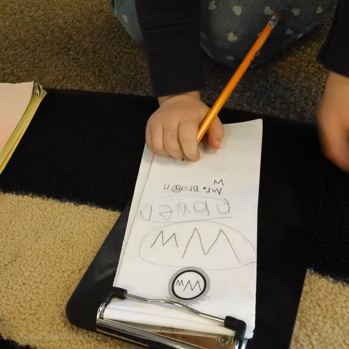 Literacy Centers Kindergarten - Detective Read and Write the Room Center