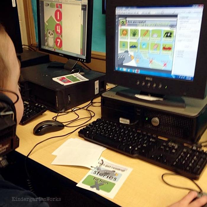 Literacy Centers Kindergarten - Computer Reading Center