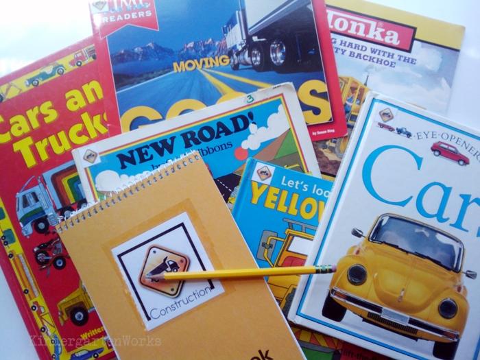 Non-Fiction Literacy Center for Kindergarten - construction and transportation books