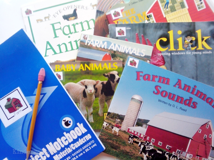 Non-Fiction Literacy Center for Kindergarten - farm books