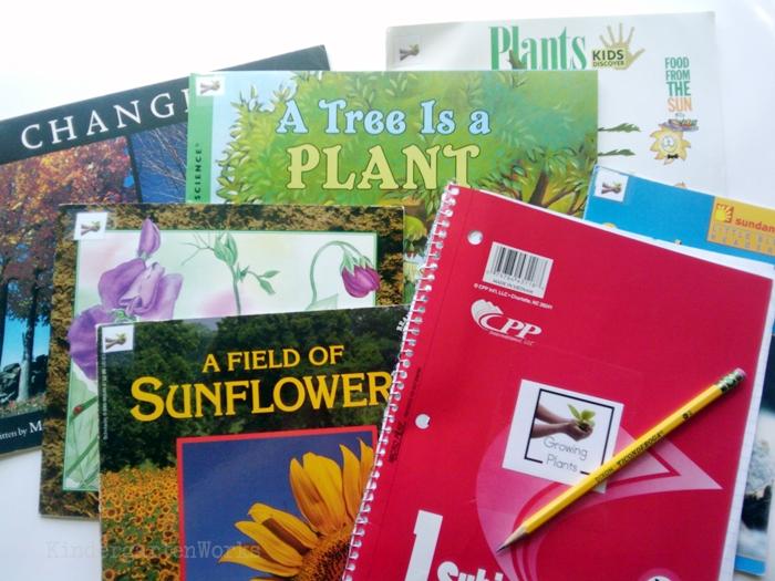 Non-Fiction Literacy Center for Kindergarten - growing plants books