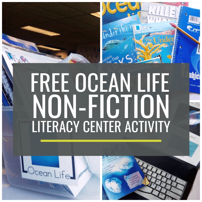 Ocean Life Non-fiction Literacy Center Activity