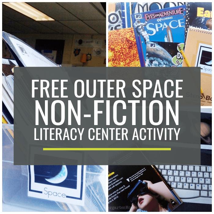 Outer Space Non-fiction Literacy Center Activity