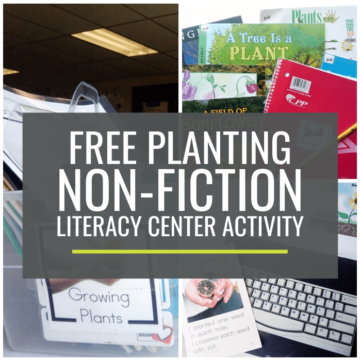 Planting Non-fiction Literacy Center Activity