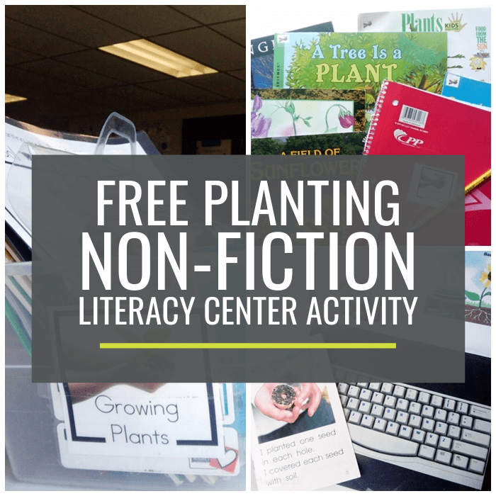 Planting Non-fiction Literacy Center Activity