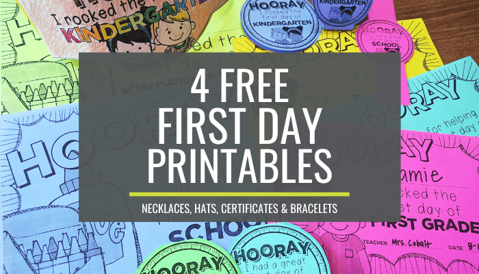 4 Adorable First Day of School Printable Freebies