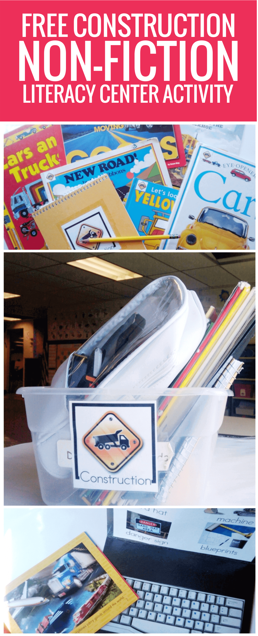 Construction Non-fiction Literacy Center Activity Set
