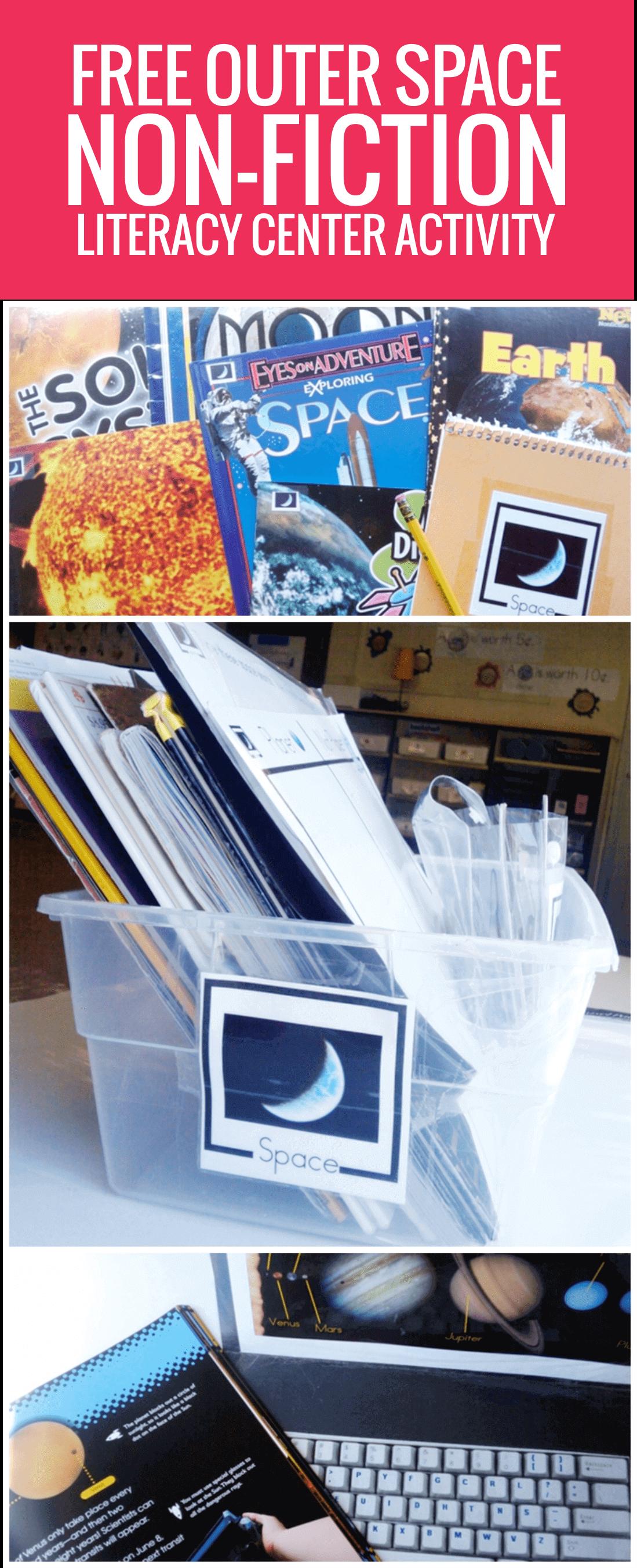 Space Non-fiction Literacy Center Activity Set