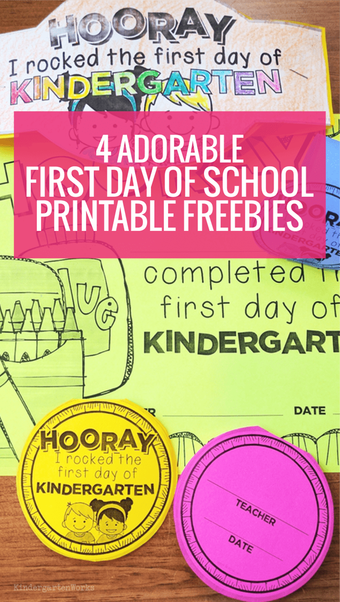 4 Free First Day of School Printables: Necklaces, Hats, Certificates, and Bracelets