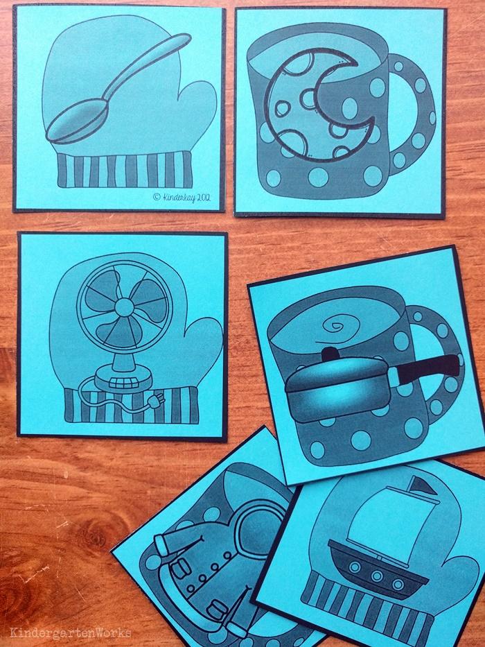 8 Free Rhyming Activities for Kindergarten - rhyming word card pairs