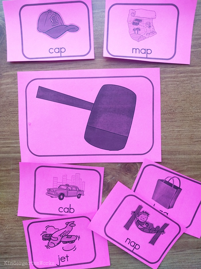 8 Free Rhyming Activities for Kindergarten - whack a rhyme game