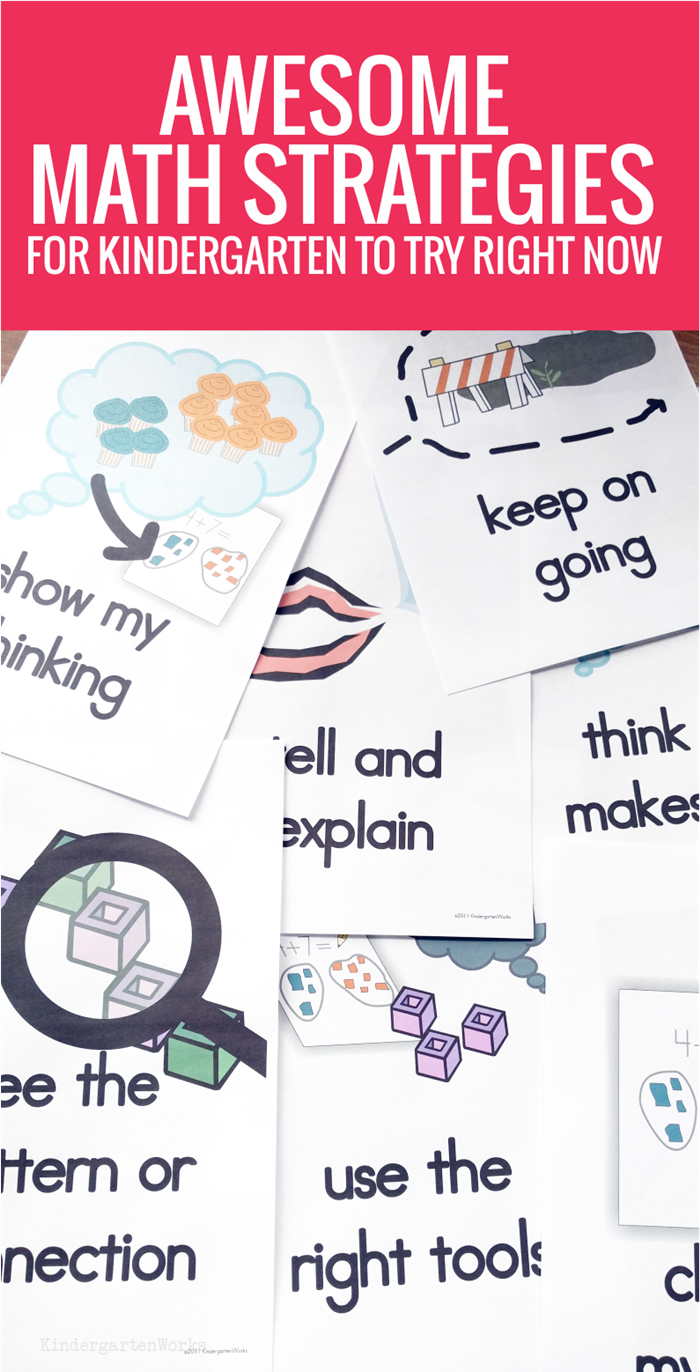 Awesome Math Strategies for Kindergarten - Easy to use in math lessons