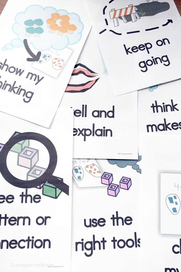 Awesome Math Strategies in posters for kindergarten