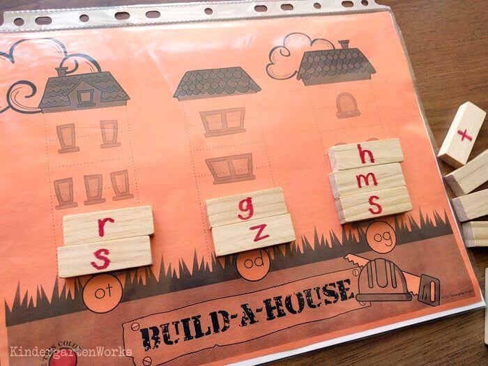 Build-a-House CVC Word Building
