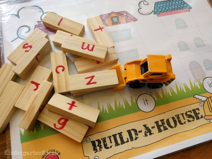 Build-a-House Free Onset and Rime Activity (CVC Word Building)