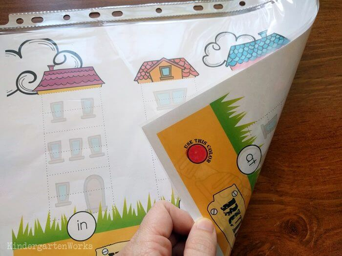 Build-a-House Onset and Rime Activity (CVC Word Building) workmat