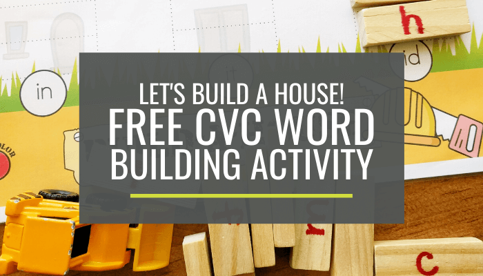 Free CVC Word Building Activity for Kindergarten with Mini-Jenga Blocks