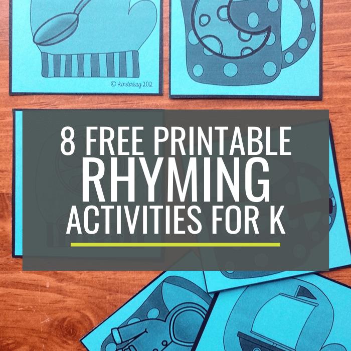 Free Rhyming Activities for Kindergarten Small Groups