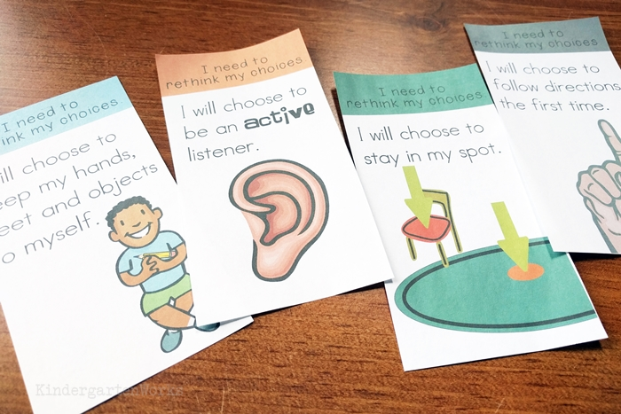 How to Rock Your Kindergarten Classroom Management Plan - add rule cards to a color card system