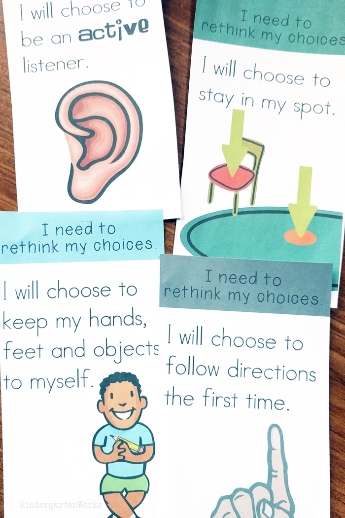 How to Rock Your Kindergarten Classroom Management Plan - use think cards