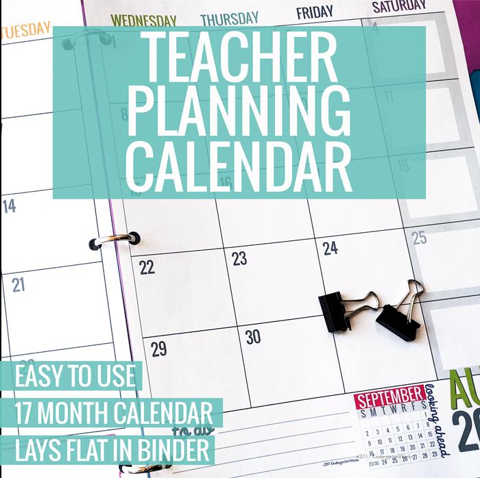 Teacher Planning Calendar Best