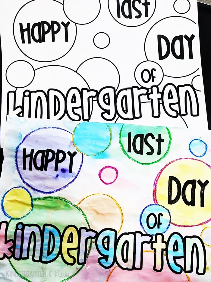 Kindergarten last day coloring page