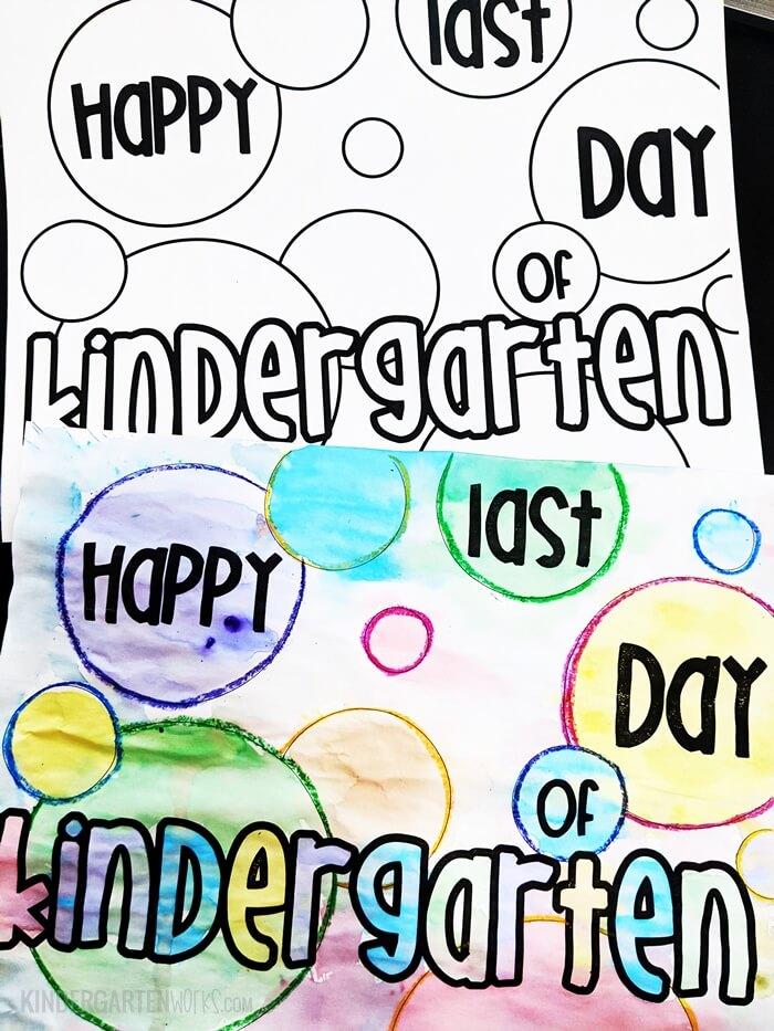 Kindergarten last day coloring page