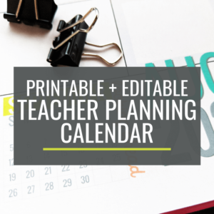 Custom Teacher Planning Calendar and Printable Calendar Template