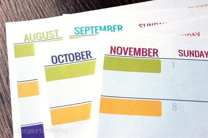 Teacher Printable Calendar 2020-2021 Planning Calendar with Holidays
