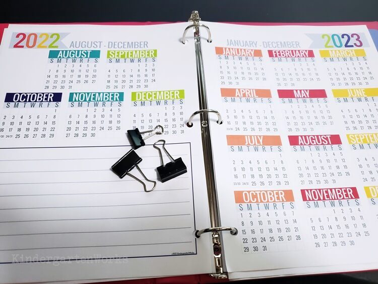 Teacher Printable Calendar 2019-2020 Planning Calendar - Year At a Glance