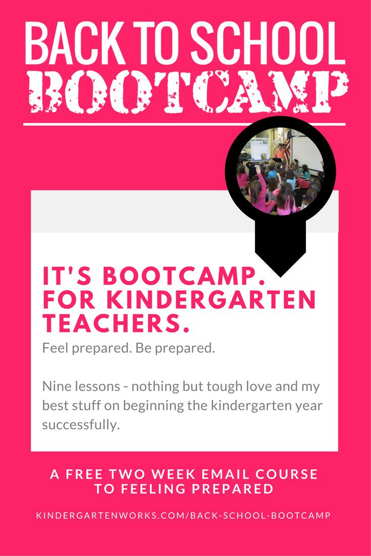 Back to School Bootcamp for Teaching Kindergarten - Start Smart, Stay Strong