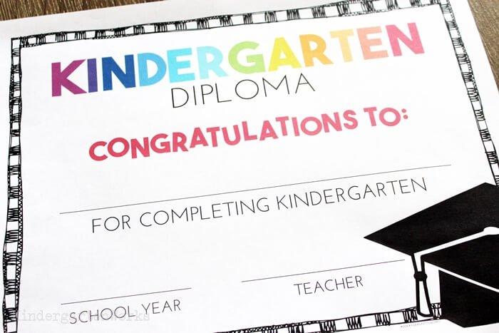 Free Diploma for Kindergarten Graduation