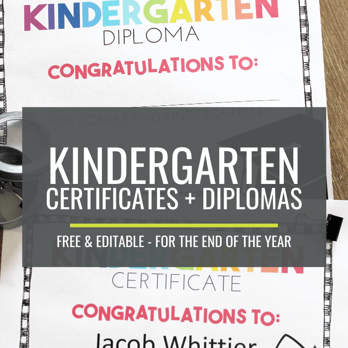 photo about Pre Kindergarten Diploma Printable called No cost Close of 12 months Certificates and Kindergarten Commencement